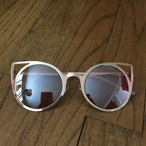 Gold Cats Eye Sunglasses